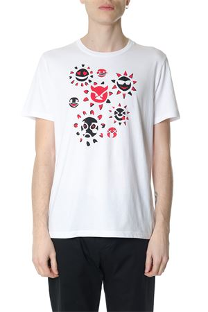 WHITE COTTON T-SHIRT WITH PRINTED EMOTICONS SS 2018 MAISON MARGIELA | 15 | S50GC0497S23182100