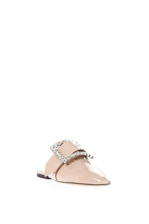 NUDE EMBELLISHED BUCKLE SLIPPERS IN LEATHER SS 2018 MAISON MARGIELA | 110000060 | S58WX0008SY0447129
