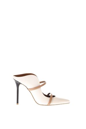 MAUREEN 70-29 BEIGE SABOT IN LEATHER SS 2018 MALONE SOULIERS | 110000060 | MAUREEN1ICE/NUDE/BLACK