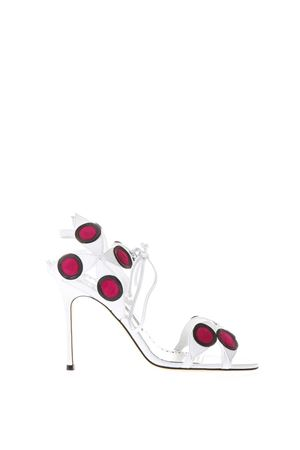 LEATHER MBOLE SANDALS WITH PODKA DOTS INSERTS 
