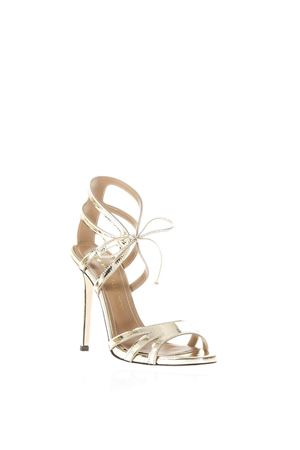 GOLD MIRROR EFFECT LEATHER SANDALS SS 2018 MARC ELLIS | 87 | MA3020SPECCHIOPLATINO