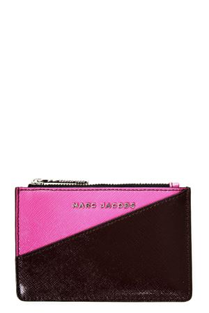 POCHETTE TOP ZIP IN PELLE FUXIA E BORDEAUX PE 2018 MARC JACOBS | 34 | M0013340TOP ZIP685