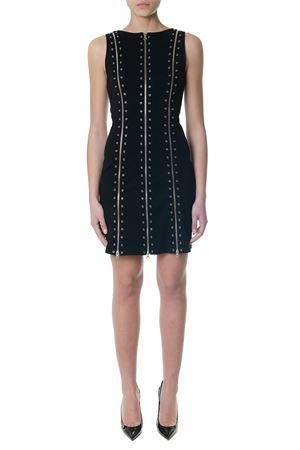 BLACK SHORT DRESS WITH METAL HOLES AND ZIPPERS SS 2018 McQ ALEXANDER MCQUEEN | 32 | 477318RKJ011000
