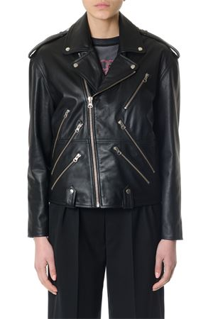 ZIPPED BLACK LEATHER BIKER JACKET ss 2018 McQ ALEXANDER MCQUEEN | 27 | 480829RKL011000