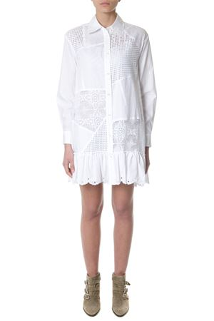 White cotton dress with embroidered laces SS2018 McQ ALEXANDER MCQUEEN | 32 | 490879RKC049013