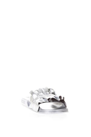BELLA SILVER CURLED LEATHER SANDALS SS 2018 MICHAEL MICHAEL KORS | 87 | 40S8BLFA1MBELLA040