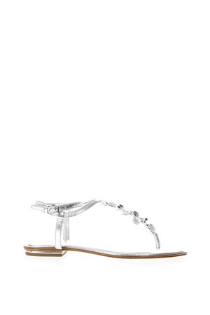 BELLA SILVER LEATHER FRINGED FLIP FLOP SS 2018 MICHAEL MICHAEL KORS | 87 | 40S8BLFA2MBELLA040