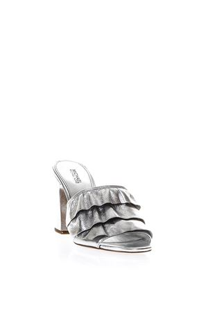 SILVER RUFFLED LEATHER SANDALS SS 2018 MICHAEL MICHAEL KORS | 87 | 40S8BLHP1MBELLA040