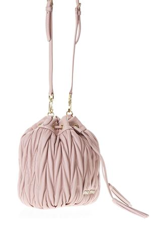 PINK MATELASSÉ BUCKET BAG IN LEATHER SS 2018 MIU MIU | 2 | 5BE014N88F0615