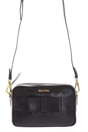 BLACK LEATHER CROSSBODY BAG WITH BOW SS18 MIU MIU | 2 | 5BH0813R7F0002