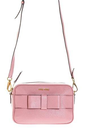 PINK LEATHER CROSSBODY BAG WITH BOW SS18 MIU MIU | 2 | 5BH0813R7F0028