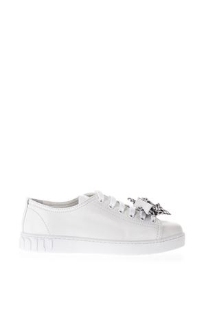 WHITE LEATHER SNEAKERS WITH BOW SS18 MIU MIU | 55 | 5E731B3KAIF0009