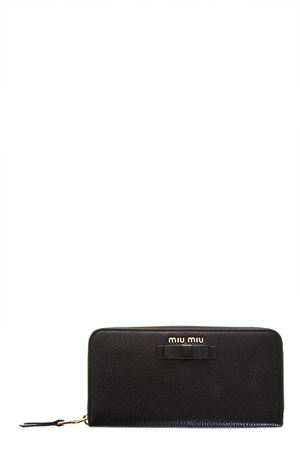 MADRAS LEATHER WALLET WITH BOW SS 2018 MIU MIU | 34 | 5ML5063R7F0002