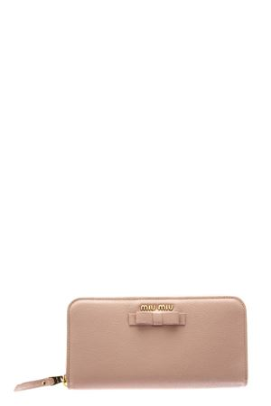 MADRAS LEATHER WALLET WITH BOW SS 2018 MIU MIU | 34 | 5ML5063R7F0615
