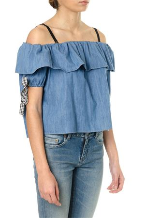 DENIM OFF THE SHOULDER TOP SS18 MIU MIU | 13 | GWT0241QAYF0013