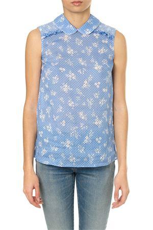 Light blu floral print blouse SS 2018 MIU MIU | 9 | MK11931QA9F0076