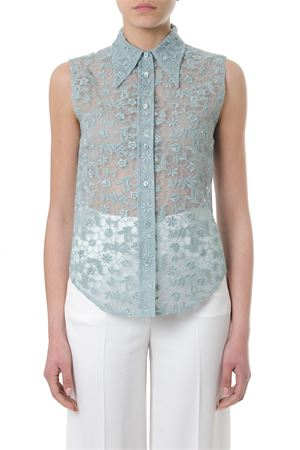 FLORAL EMBROIDERED SLEEVELESS SHIRT SS 2018 MIU MIU | 9 | MK12731RA0F0424