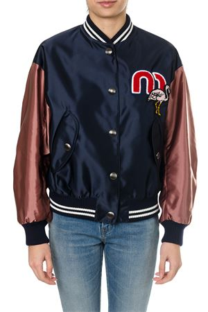 BLUE AND RED SATIN BOMBER SS18 MIU MIU | 27 | ML4711QAWF0124