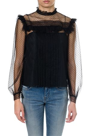 BLACK SILK SEE-THROUGH BLOUSE SS18 MIU MIU | 13 | MT1356E6WF0002