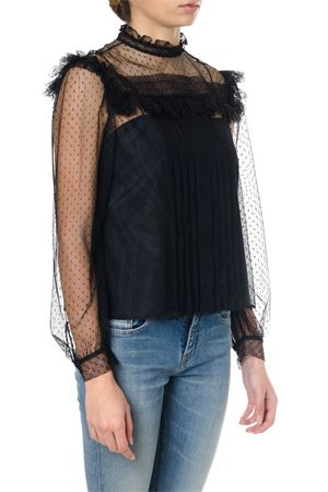 BLACK SILK SEE-THROUGH BLOUSE SS18 MIU MIU | 9 | MT1356E6WF0002