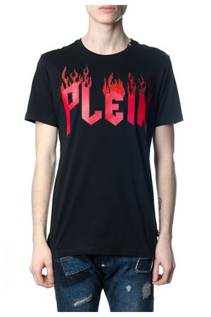 FLAME BLACK T-SHIRT WITH LOGO SS 2018 PHILIPP PLEIN | 15 | P18CMTK2126PJY002N02
