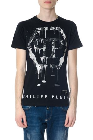 T-SHIRT NERA MIND IN COTONE CON STRASS PE 2018 PHILIPP PLEIN | 15 | S18CMTK1887PJY002N0201