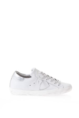 WHITE & SILVER LEATHER SNEAKERS SS 2018 PHILIPPE MODEL | 55 | CLLDPARIS LD VEAUV021