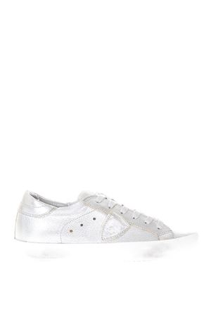 PARIS SILVER SNEAKERS IN LEATHER SS 2018 PHILIPPE MODEL | 55 | CLLDPARIS LD1009