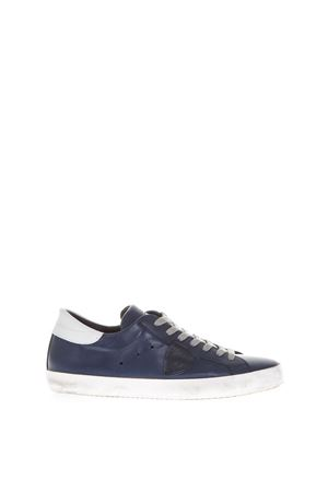 BLUE LEATHER SNEAKERS PHILIPPE MODEL SS 2018 PHILIPPE MODEL | 55 | CLLUPARIS LU1002