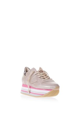 EIFFEL CHAMPAGNE METALLIC LEATHER SNEAKERS SS 2018 PHILIPPE MODEL | 55 | EILDEIFFEL LD METALMM05