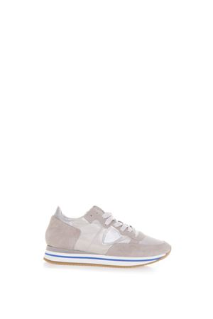 PEARL GREY TROPEZ HIGHER SNEAKERS IN SUEDE SS 2018 PHILIPPE MODEL | 55 | THLDTROPEZ HIGHER LDPE06