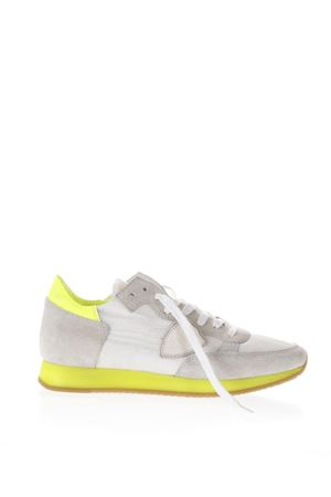 GREY AND YELLOW SUEDE AND NYLON TROPEZ SNEAKERS PE18 PHILIPPE MODEL | 55 | TRLDTROPEZ LD NEONNS01