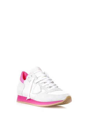 White and fuxia suede and nylon Tropez sneakers SS2018 PHILIPPE MODEL | 55 | TRLDTROPEZ LD NEONNS04