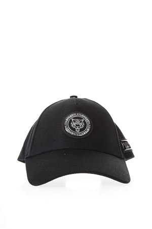 BLACK & SILVER COTTON BASEBALL HAT WITH LOGO PLAQUE SS 2018 PLEIN SPORT | 17 | P18AMAC0236STE008N70