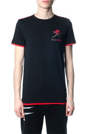 AGILE BLACK AND RED T-SHIRT SS 2018 PLEIN SPORT | 15 | P18MTK2071SJY001N0213