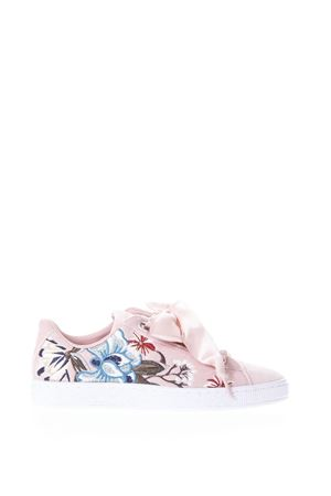 SNEAKERS BASKET HEART ROSA IN CAMOSCIO PE 2018 PUMA SELECT | 55 | 36611602BREAKERBEIGE