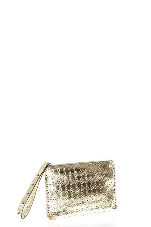 STUDDED GOLD METALLIC LEATHER CLUTCH SS 2018 RED VALENTINO | 2 | PQ0B0738UJAUNIL01