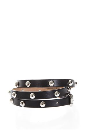 STUDDED BLACK LEATHER BELT SS 2018 RED VALENTINO | 12 | PQ0T0A06UXBUNI0NO