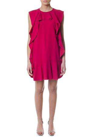 CREPE ENVERS DRESS WITH TRIM DETAILS  SS 2018 RED VALENTINO | 32 | PR3VA6100F1UNICE7