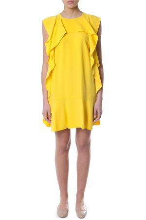 CREPE ENVERS YELLOW  DRESS WITH TRIM DETAILS SS 2018 RED VALENTINO | 32 | PR3VA6100F1UNICN6