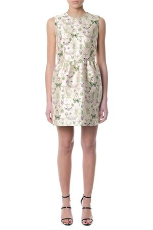 BEIGE DRESS WITH EMBROIDERED INSECTS SS 2018 RED VALENTINO | 32 | PR3VA6613FGUNI404