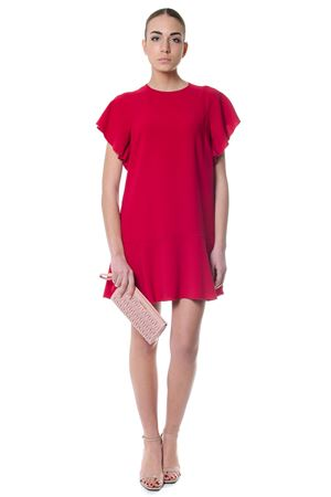 RED FLARED T-SHIRT DRESS SS 2018 RED VALENTINO | 32 | PR3VA6G52QLUNICC7