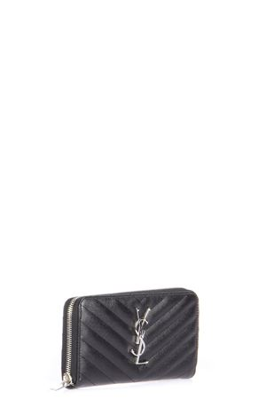 MONOGRAMME QUILTED LEATHER ZIP AROUND WALLET fw 2018 SAINT LAURENT | 34 | 358094BOW021000