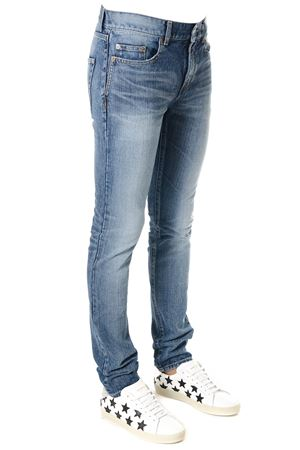 JEANS BLU IN DENIM EFFETTO STONE WASH PE 2018 SAINT LAURENT | 4 | 494361YA8964302