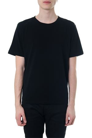 T-SHIRT IN BLACK JERSEY PRINTED WITH LOVE 1974 SS 2018 SAINT LAURENT | 15 | 497188YB2MQ1004