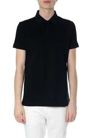 07e0e59a0d0 Black classic polo shirt with logo SS2018 SAINT LAURENT