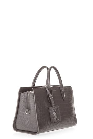 a5a927726d ... GREY MEDIUM JANE TOTE BAG IN CROCODILE PRINT SS18 SAINT LAURENT