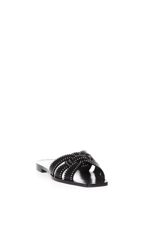 BLACK LEATHER BARE FOOT SANDALS SS 2018  SAINT LAURENT | 87 | 515637BDANN1000