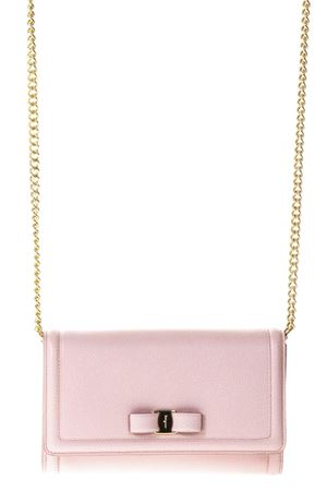 PINK LEATHER SHOULDER BAG WITH VARA BOW SS 2018 SALVATORE FERRAGAMO | 2 | 22C940UNIBONBON