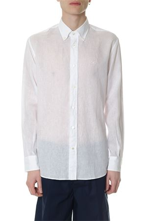 BUTTON DOWN WHITE LINEN SHIRT SS 2018 SALVATORE FERRAGAMO | 9 | 6302940BIANCO